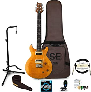 PRS SE Santana Electric Guitar with Accessories, Santana Yellow