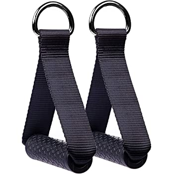 SUPRBIRD Premium Heavy Duty Exercise Handles, Cable Machine Attachments Resistance Bands Handles Grips Fitness Strap Stirrup Handle Cable Attachment Silicon Grip with Solid ABS Cores