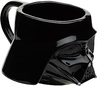 Zak Designs Taza de cerámica esculpida, sin BPA, multicolor, Darth Vader, Darth Vader, Único, 1