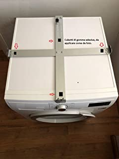KIT di impilamento Stack vibrazione Tappetino /& Piedi per Candy Asciugatrice Lavatrice