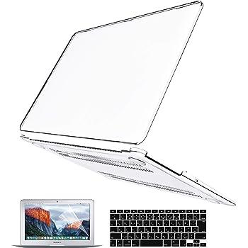 Belk MacBook Air 11 ケース [日本語 JIS キーボードカバー+液晶保護フィルム+マックブック エア 11インチ ハードケース] (クリア)