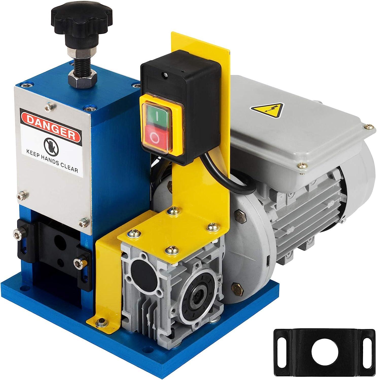 VEVR Máquina de Pelacable Eléctrica de Cables 1,5-25mm, 220V 180W, Máquina Peladora de Cables de Múltiples Agujeros, Máquina Peladora de Cables Eléctricos