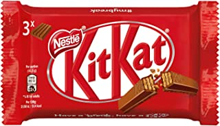 KitKat Nestlé Original Wafer Ricoperto di Cioccolato al Latte, 3 Snack da 41.5 g