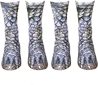 Animal Paw Socks Paw Print 3D Socks Novelty Animal Paws Crew Socks for Men Women Kids