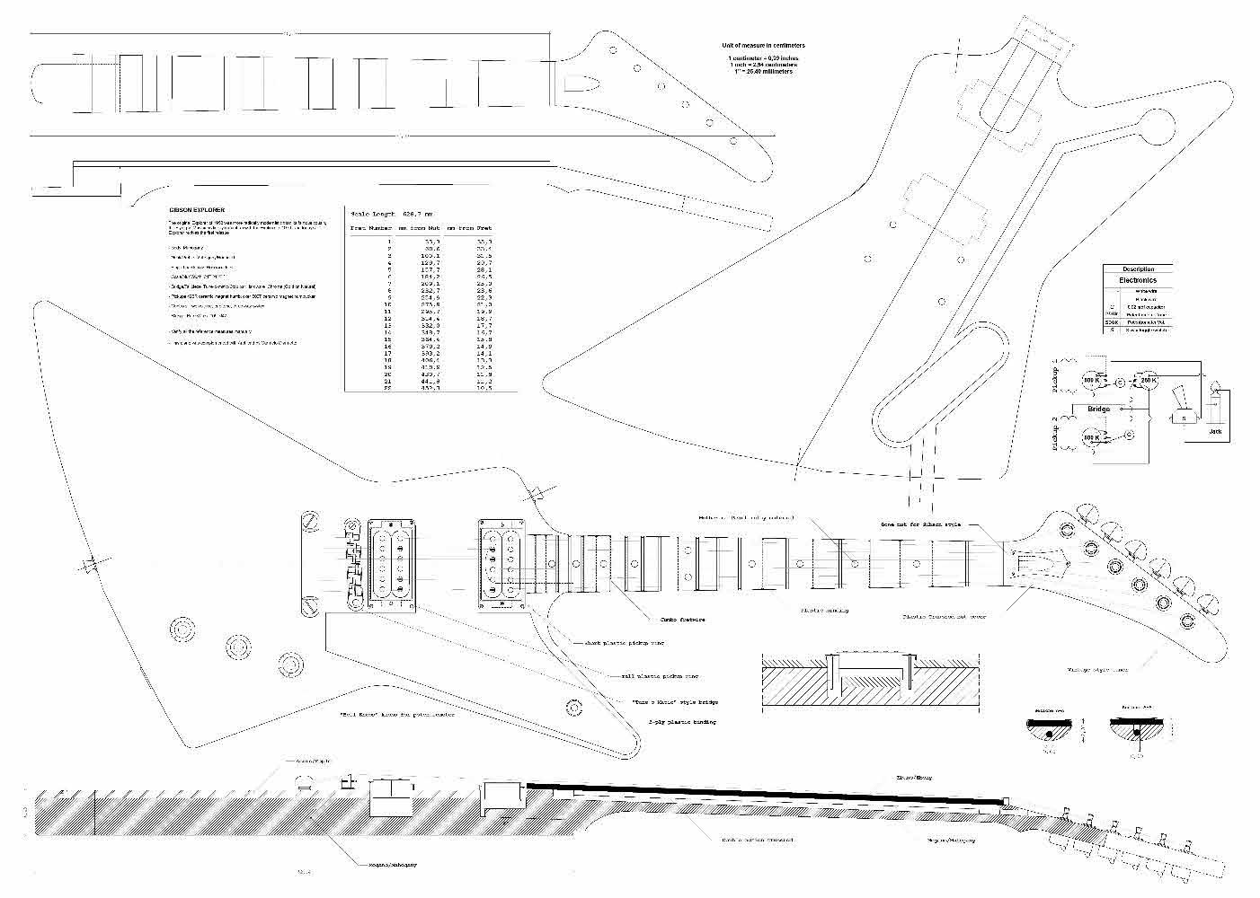 Cheap Set of 3 Gibson Electric Guitar Plans - Explorer Flying V Firebird Studio - Actual Size- Making Guitar or Framing BUY ONLY FROM SPIRIT FLUTES - Black Friday & Cyber Monday 2019