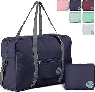 4ece6d7e8d47 Wandf Foldable Travel Duffel Bag Luggage Sports Gym Water Resistant Nylon