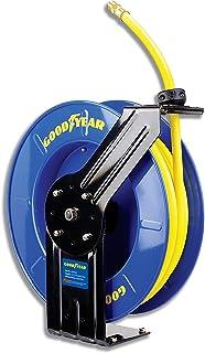 Goodyear stål infällbar luftkompressor/vattenslangrulle gummislang, max. 300PSI (3/8 tum x 65 fot)