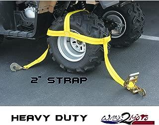 Ratchet Strap for Wheel Tire Rim Bonnet ATV Quad MUV Side by Side SUV