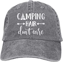 HHNLB Unisex Camping Hair Don t Care 1 Vintage Jeans Baseball Cap Classic Cotton Dad Hat..