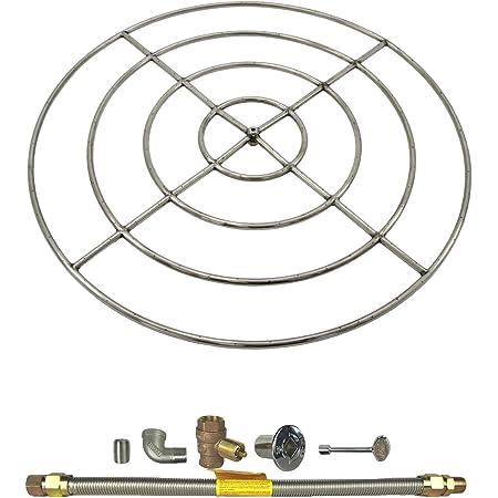 Natural Gas FG-FR-48SSK 48-Inch Firegear Stainless Steel Gas Fire Pit Burner Ring Kit