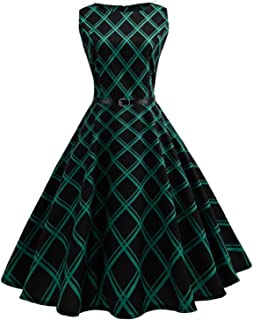 bcc7d35a06a Gomis Women 50s 60s Retro Vintage Dress Summer Floral Print Rockabilly  Swing Robe Femme Vestidos Sexy