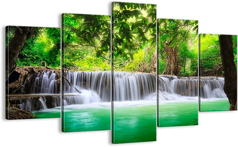 Bild auf Leinwand - Leinwandbilder - fünf Teile - Breite  150cm, Höhe  100cm - Bildnummer 2502 - fünfteilig - mehrteilig - zum Aufhängen bereit - Bilder - Kunstdruck - EA150x100-2502 B00FU8UTCG