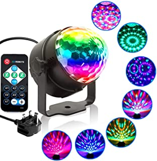 DJ Lights Sound Activated Disco Light Party Lights Mini RGB LED Magic Disco Ball Multi Colored Rotating Stage Effect Light...