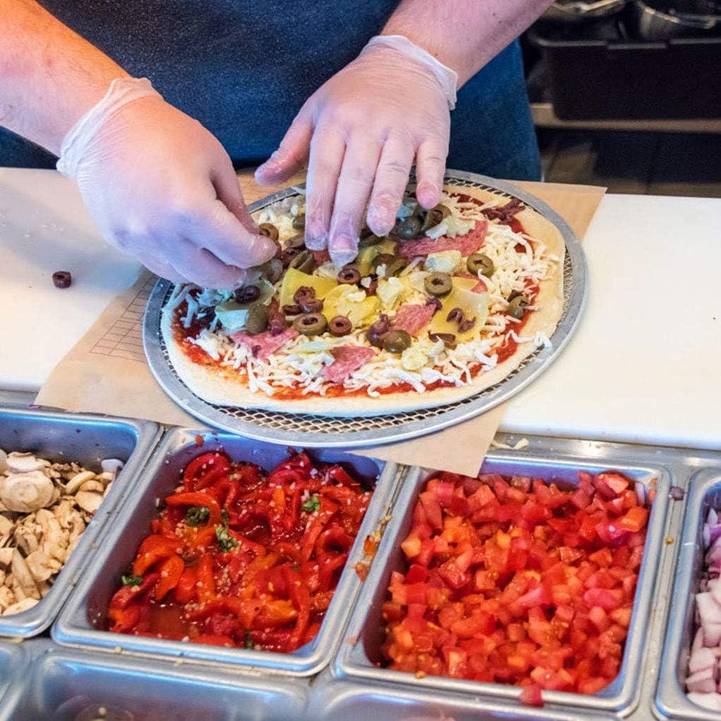 7 inch Uzinb Round Mesh Pizza Screen Baking Thin Crust Tray Mesh Aluminum Wire Pan Pizza Baking Tool