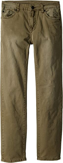 Slimmy Stretch Twill Jeans in Olive (Big Kids)