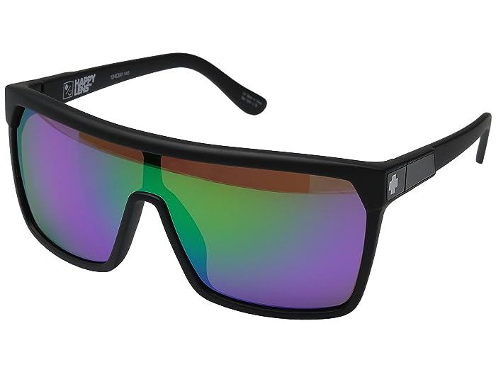 Spy Optic Flynn (Matte Black/Happy Bronze w/ Green Spectra) Sport Sunglasses