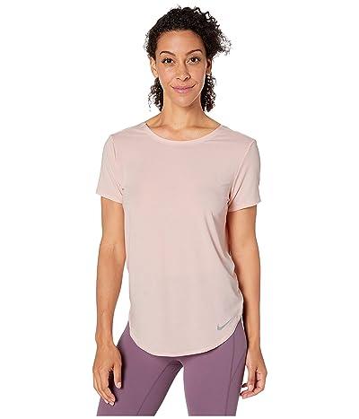 Nike Top Short Sleeve Twist (Echo Pink/Reflective Silver) Women