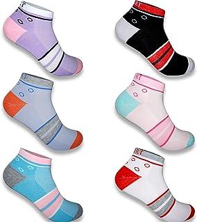12 pares calcetines deportivos de deporte de algodón y silicona para mujer calcetines antideslizantes verano 2127VA
