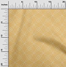 oneOone Organic Cotton Poplin Twill Fabric Shapes Geometric Sashiko Print Decor Fabric Printed BTY 42 Inch Wide