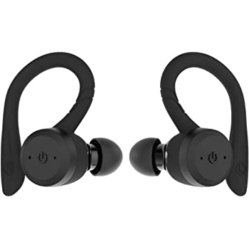 Amazon Com True Wireless Earbuds Bluetooth 5 0 Headphones Sports In Ear Tws Stereo Mini Headset W Mic Hifi Bass Ipx7 Waterproof One Step Instant Pairing Case Noise Cancelling Earphones Black Home Audio Theater
