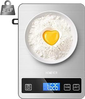 Homever Bilancia da cucina digitale da 15 kg Bilancia elettronica da cucina con misurazione dei liquidi, precisione 1 g, f...
