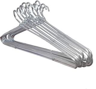 Blumfye™ Heavy Quality Aluminium Cloth Hanger (Silver, Set of 12)