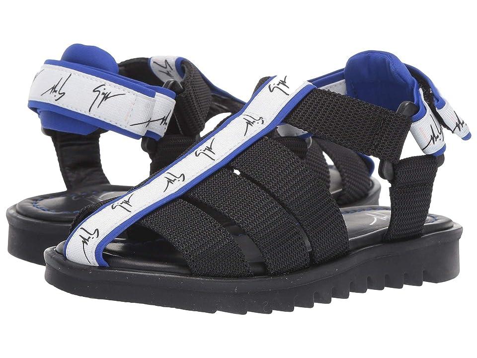 Giuseppe Zanotti Kids Bond Gomma Strap Sandals (Toddler/Little Kid) (Black/Blue) Kids Shoes