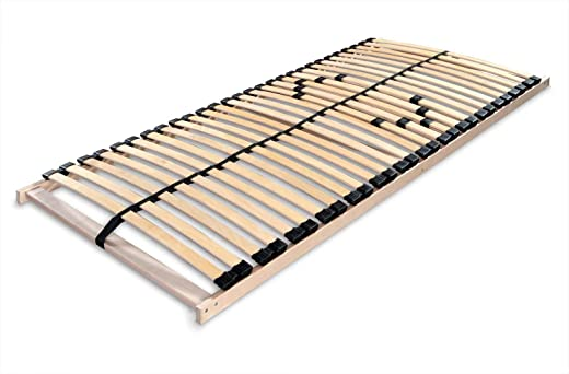 Betten-ABC Lattenrost Max 1 NV zur Selbstmontage/Lattenrahmen in 70 x 200 cm mit 28 Leisten und Mittelzonenverstellung – geeignet für alle Matratzen