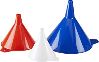 KarZone All Purpose Automotive Funnels - Red, White, Blue - Oil, Gas, Lubricants and Fluids