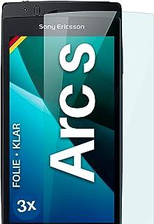 moex Genomskinligt skärmskydd kompatibelt med Sony Ericsson Xperia Arc S - skärmfilm kristallklar, HD-skärmskydd, tunn rep...