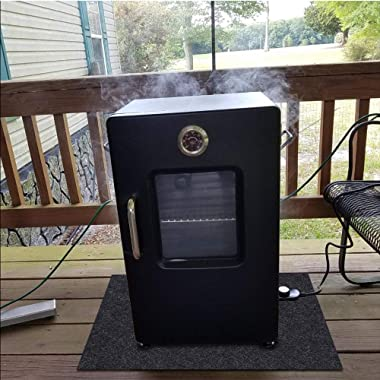 Electric Smoker Mat,Premium Oven Protective Mat—Protects Wooden Floors and Outdoor terraces,Absorbent Material-Contains Smoke