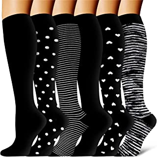 Compression Socks - Compression Sock Women & Men - Best Running, Athletic Sports, Crossfit, Flight Travel