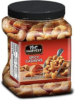 Nut Harvest Cashews, Spicy, 24 oz jar
