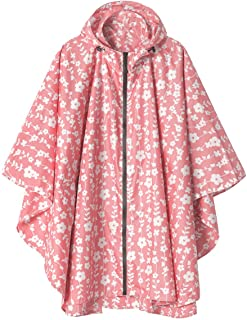 Rain Poncho Jacket Coat Hooded for Adults with Pockets