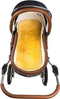 Hofbrucker Hofbrucker Baby Lammfell-Auflage/Lammfelleinlage für Kinderwagen & Softtragetasche & Buggy & Kinderbett/Lammfell Einlage/Lammfell medizinisch gegerbt, Größe:Kinderwagen-Auflage 75x32 cm
