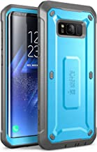 SUPCASE Full-Body Rugged Holster Case for Samsung Galaxy S8, with Built-in Screen Protector for Galaxy S8 (2017 Release), Not Fit Galaxy S8 Plus, Unicorn Beetle Shield Series - Retail Package (Blue)