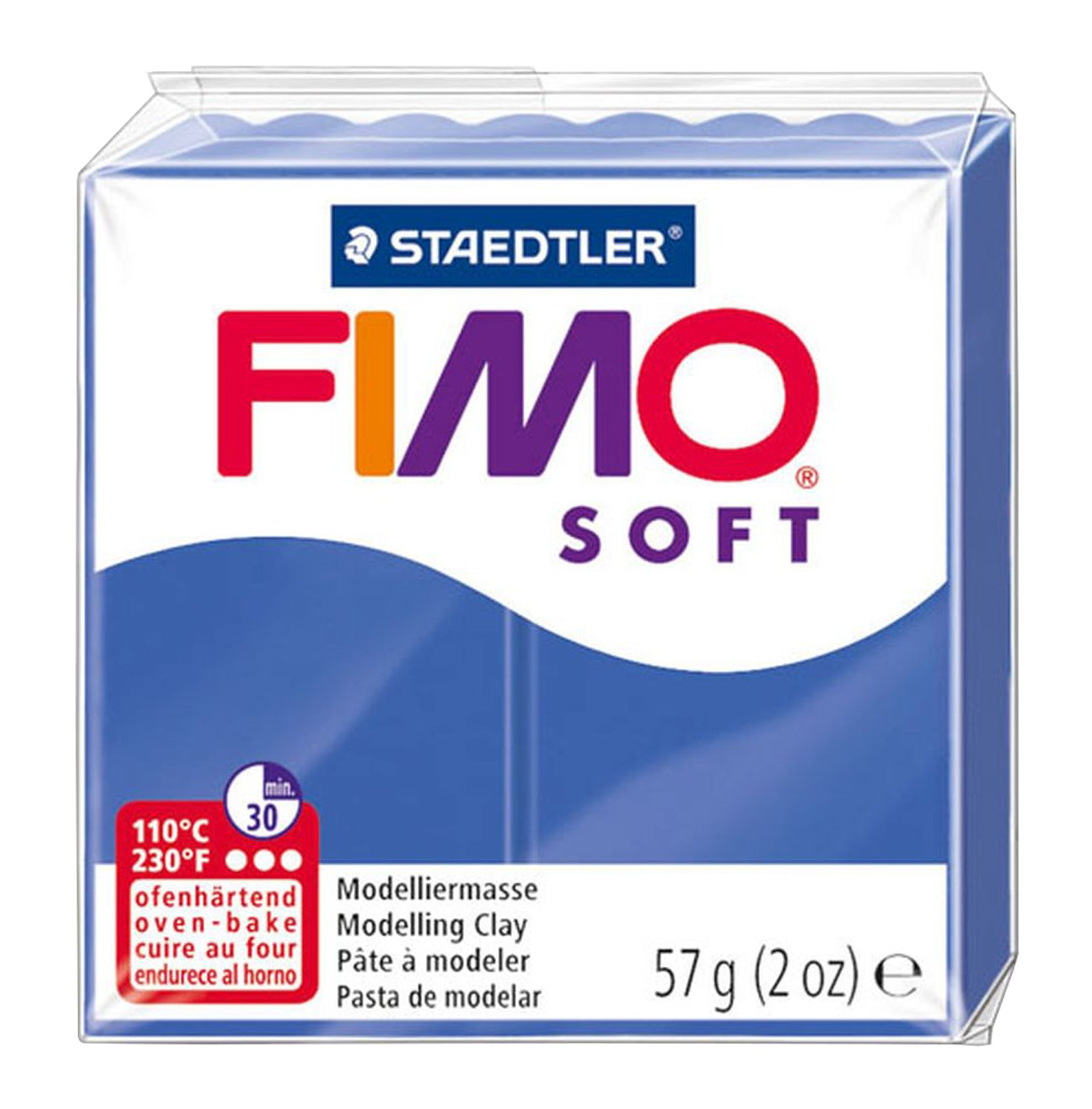 Two 56g blocks Brilliant Blue FIMO Soft Polymer Modelling Clay no 33