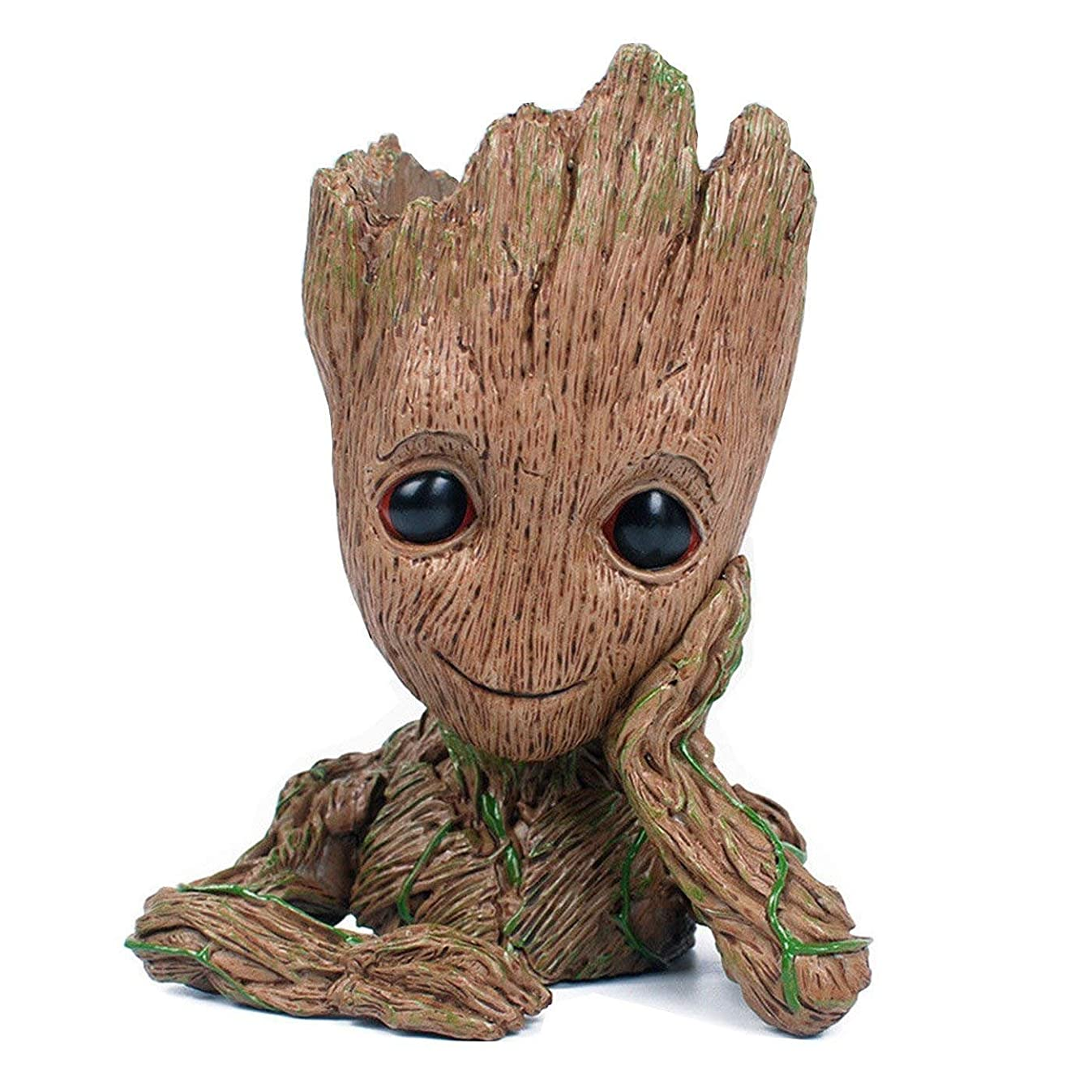 Groot Action Figures Fashion Guardians of The Galaxy Flowerpot Baby Cute Model Toy Pen Pot for Kids (Thinking Tree)