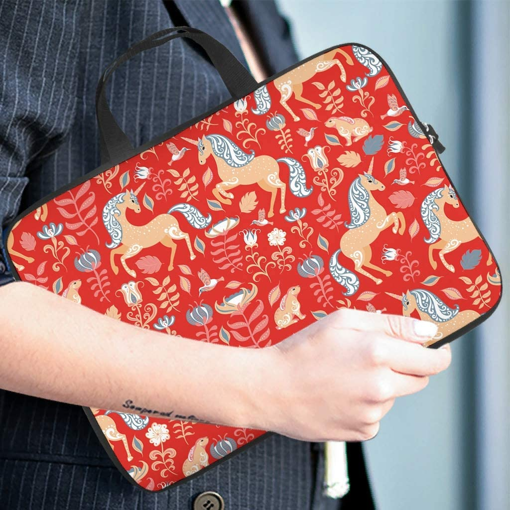 save up to 8 discount Unicorn Rabbit Floral Red Laptop Sleeve ...