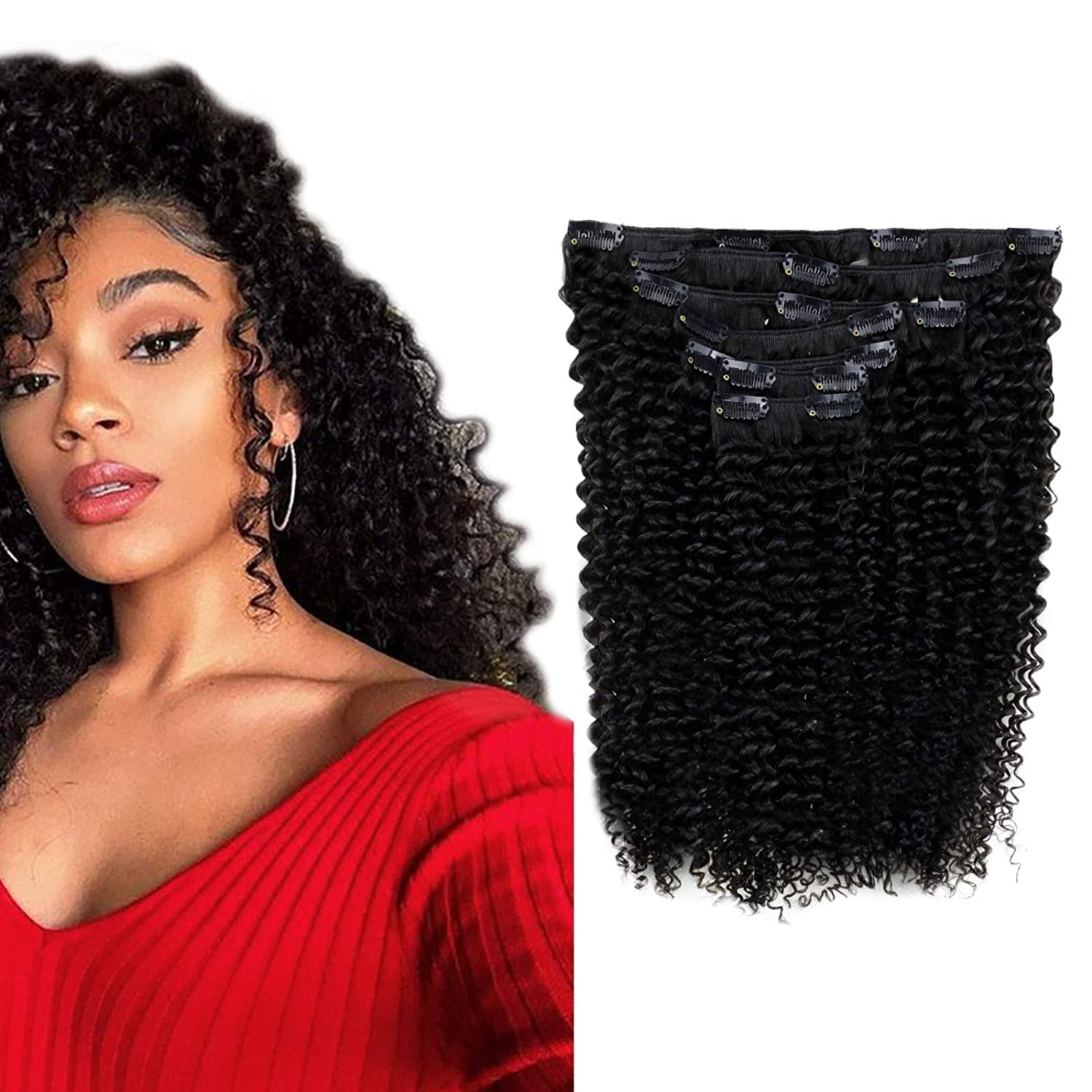 RUNATURE 100g Kinky Curly Weekly update Clip in Extensions Max 68% OFF Ex Hair 14inch