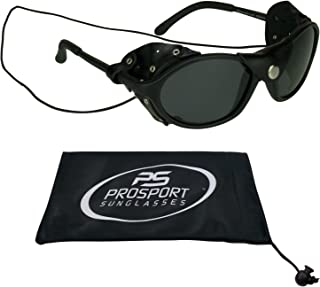 Bikershades Leather Polarized Sunglasses with Side Shields and Strings