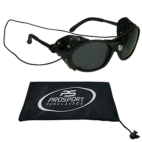 2646daeb58 Bikershades Leather Polarized Sunglasses with Side Shields and Strings
