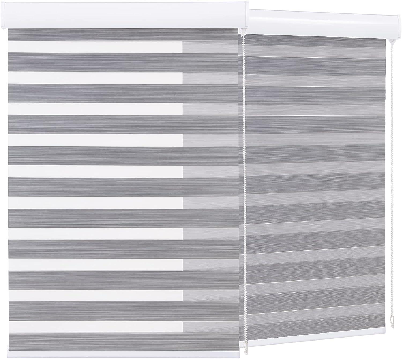 Boolegon 95% price Blackout Zebra Blinds Waterproof Dual for Las Vegas Mall Windows L