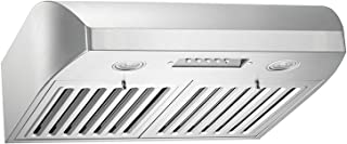 KOBE CHX2230SQB-1 Brillia 30-inch Under Cabinet Range Hood, 3-Speed, 680 CFM, LED Lights, Baffle Filters
