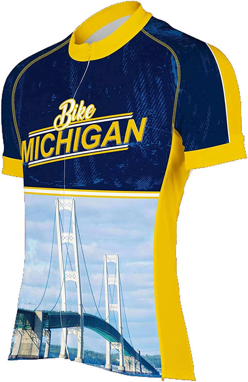 Peak 1 Safety and trust Sports Michigan Selling rankings Men's Cycling II Jersey