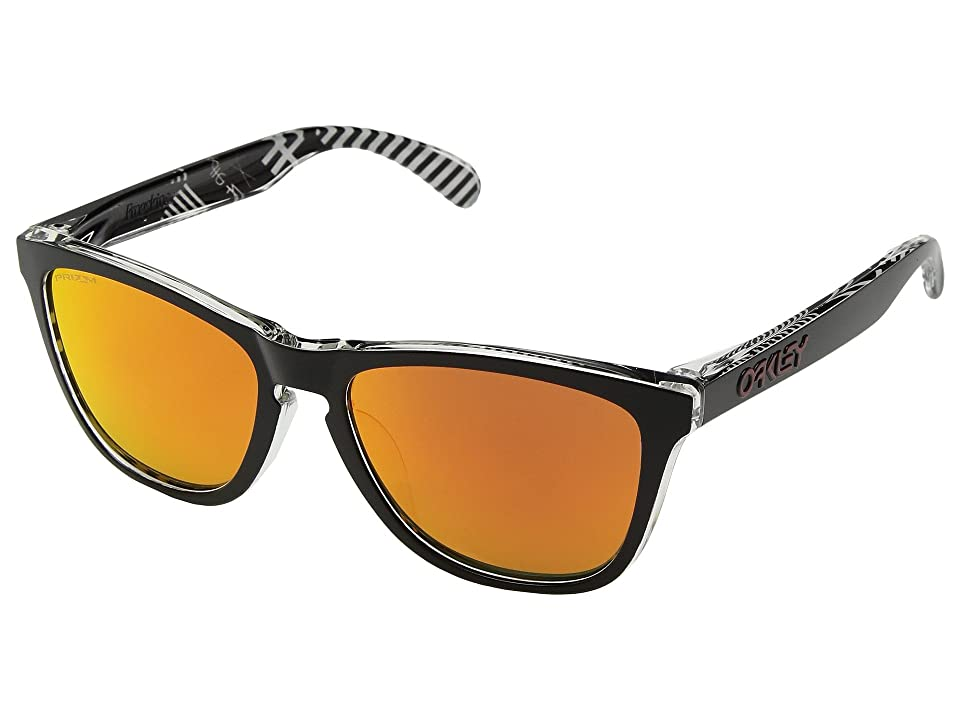 Oakley Frogskins Urban Commuter IML (A) (Tokyo Black w/ Prizm Ruby) Athletic Performance Sport Sunglasses