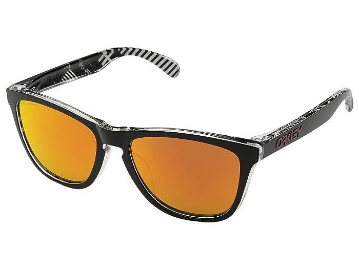 Oakley Frogskins Urban Commuter IML (A) (Tokyo Black w/ Prizm Ruby) Athletic Performance Sport Sunglasses
