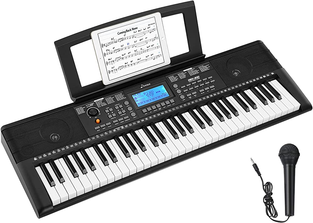 Donner tastiera musicale 61 tasti con microfono DEK-610