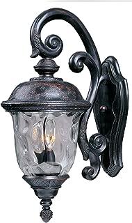 Maxim Lighting 3497WGOB Three Light Water Glass Wall Lantern, Oriental Bronze