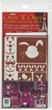 Armour Products GE21-1651 Over N Over Glass Etching Stencil, 5-Inch by 8-Inch, Easter